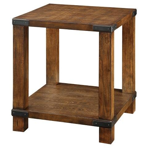 Furniture Of America Reymond Weathered Industrial Brown End Table