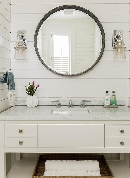 cottage bathroom mirror ideas. Gray Convex Bathroom Mirror Cottage Ideas T