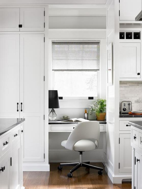 kitchen desk nook under window view full size - Kitchen Desk Ideas