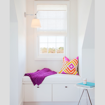 Window Seat Nook With Swing Arm Sconce