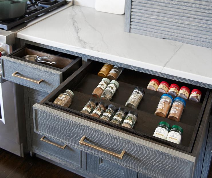 Pull Out Spice Drawer - Contemporary - Kitchen