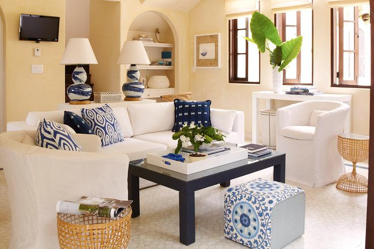 Admirable White Sofa With Navy Coffee Table Cottage Living Room Forskolin Free Trial Chair Design Images Forskolin Free Trialorg