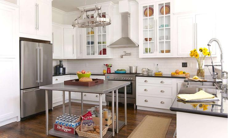 Free Standing Kitchen Islands freestanding kitchen islands - transitional - kitchen - erin gates