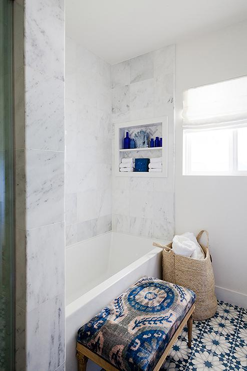 Ann Sacks Eastern Promise Tiles Transitional Bathroom