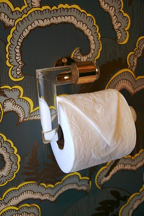 Lucite Toilet Paper Holder