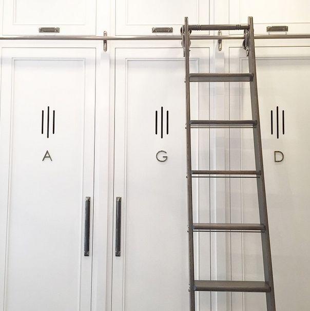 Monogrammed Mudroom Lockers - Transitional - Laundry Room