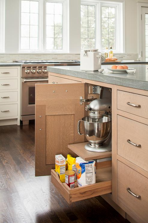 Attrayant Wire Brushed Oak Kitchen Cabinets