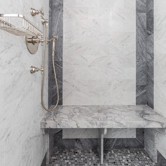 Grey And White Marble Bathroom: White Marble Tiles Design Ideas
