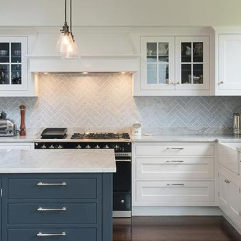 Blue Gray Kitchen Cabinets Contemporary Kitchen