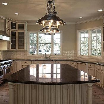 White Kitchen Cabinets With Tan Granite Countertops Design