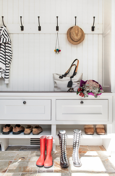 Mudroom Bench Shoe Shelf