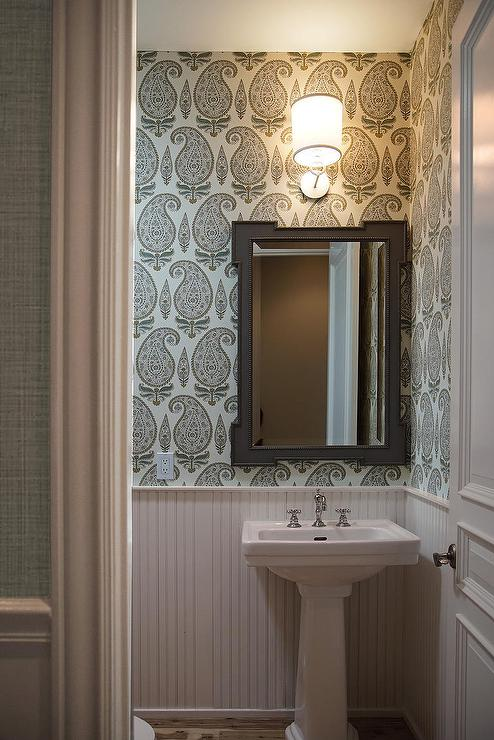 Powder Room Beadboard Design Ideas