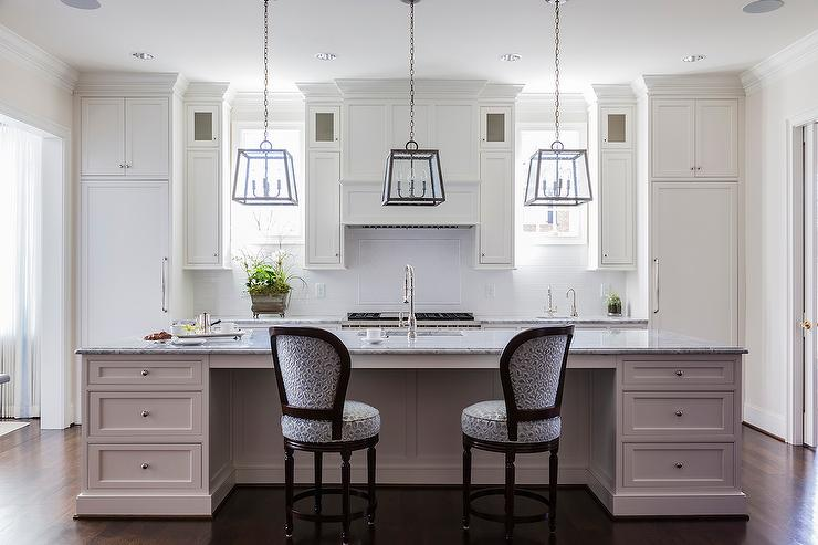 Three Island Lanterns Transitional Kitchen