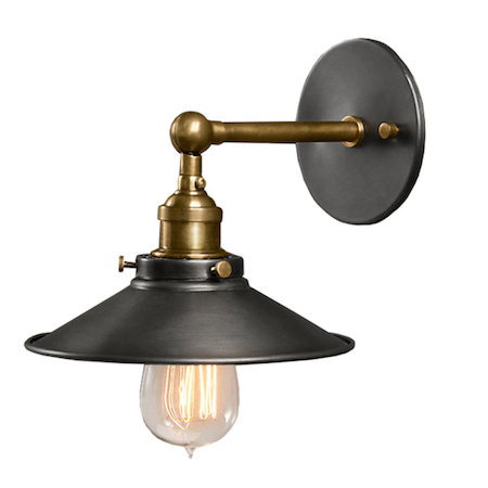 Wall Sconces Deals : Dorothy 1-light Black Edison Wall Sconce