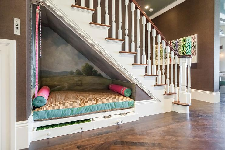 Awesome Under The Stairs Dog Bed