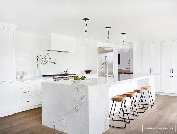 Charming Marble Block Kitchen Island