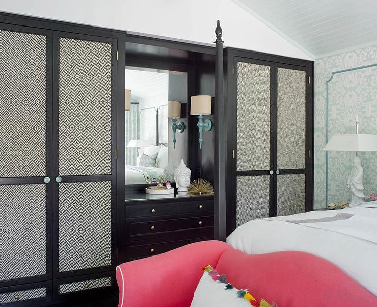 Fabric Paneled Closet Doors