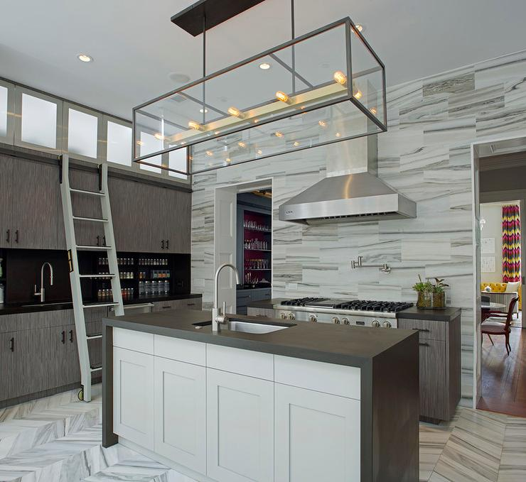 Black Waterfall Island Top - Contemporary - Kitchen