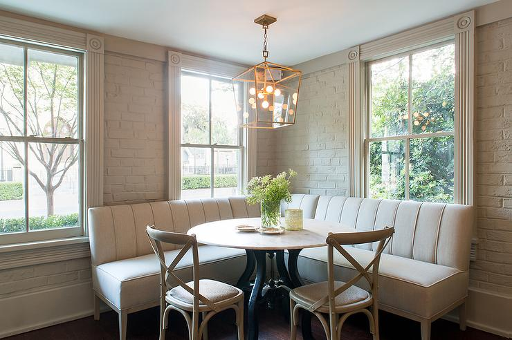 L Shaped Upholstered Dining Banquette Transitional