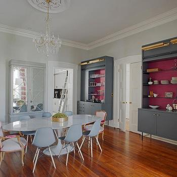 Pink And Gray Dining Rooms