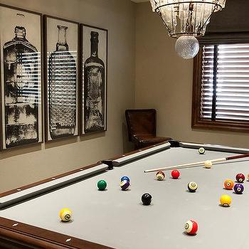 Media Room With Pool Table Design Ideas - Pool table chalk board