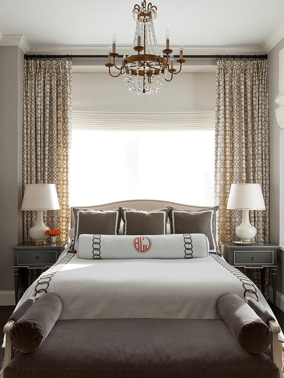 Cream and Brown Bedroom Design - Transitional - Bedroom