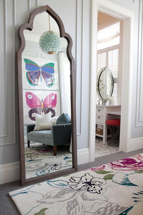 Dovetail Maroc Mirror Transitional Bedroom