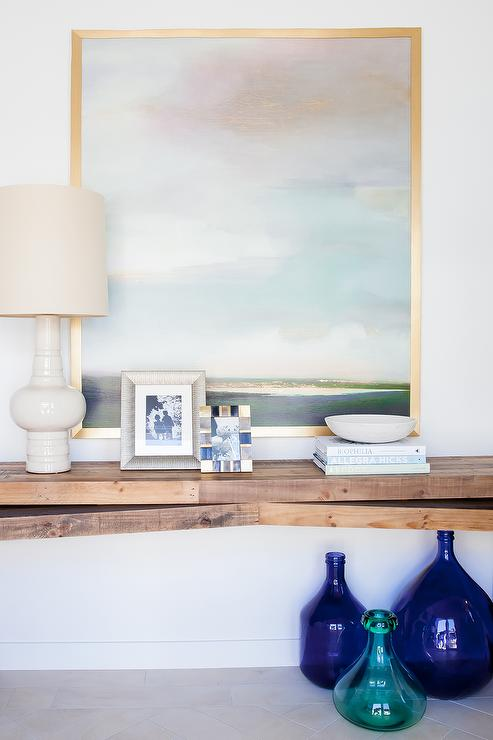 Beautiful Floating Console Table In Foyer