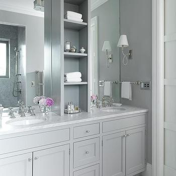 Grey Shaker Bathroom Vanity. Grey Bathroom Cabinets Design Ideas