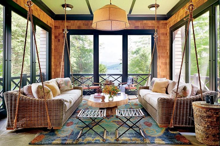 Thom Filicia · Swinging Wicker Sofas View Full Size