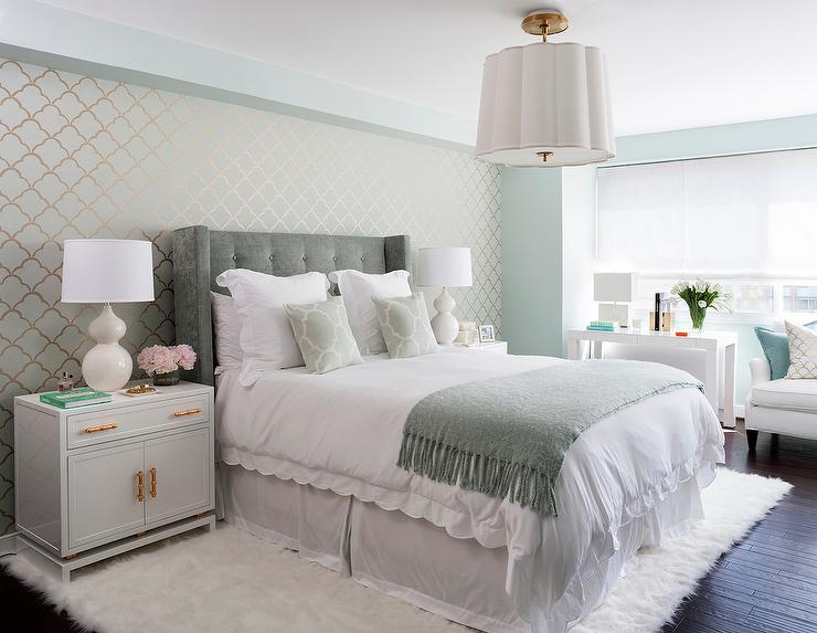 Green and Gray Bedrooms - Transitional - Bedroom