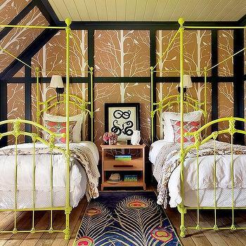 kids room yellow nightstand design ideas