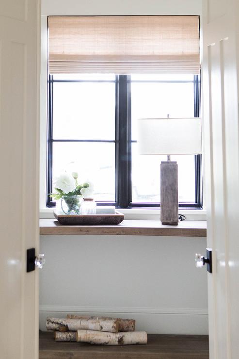 Window Console Table ~ Entrance foyer