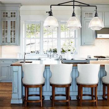 Linear schoolhouse pendant design ideas distressed blue kitchen cabinets mozeypictures Images