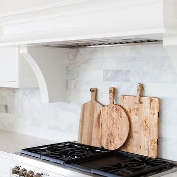 Marble Brick Tiled Kitchen Backsplash