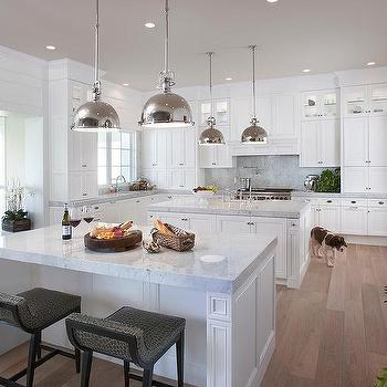 Double Kitchen Islands Design Ideas