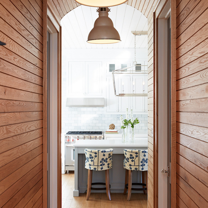 oak paneled walls - cottage - kitchen