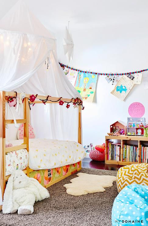 Pottery Barn Kids Jumbo Canopy & Pottery Barn Kids Jumbo Canopy - Transitional - Girlu0027s Room