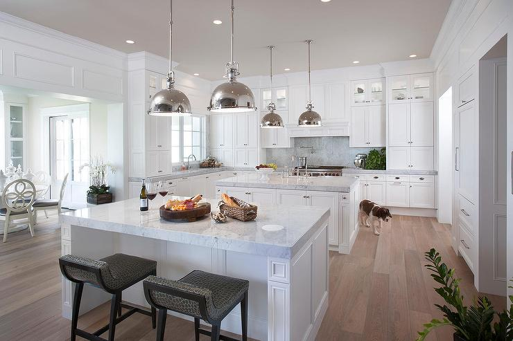 Kitchen with 2 Islands Design - Transitional - Kitchen