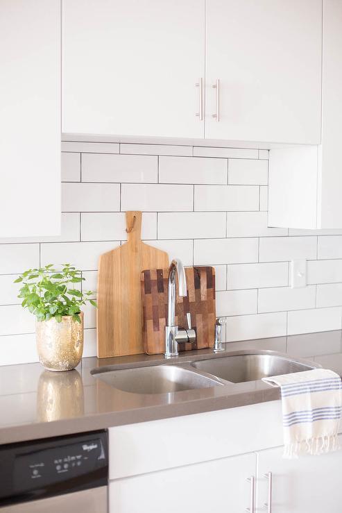 Kitchen Sink Below Cabinet Transitional Kitchen