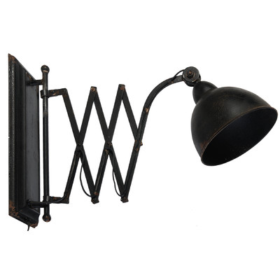 Black Metal Accordion Wall Sconce World Market
