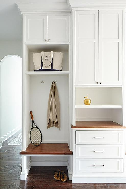 Small Built In Mudroom Bench Transitional Laundry Room
