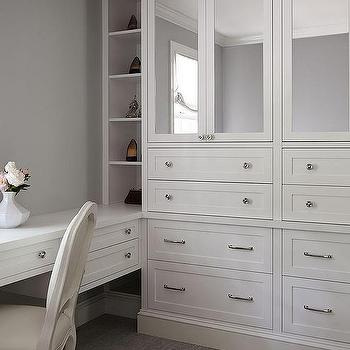 Charmant Built In Mirrored Closet Cabinets