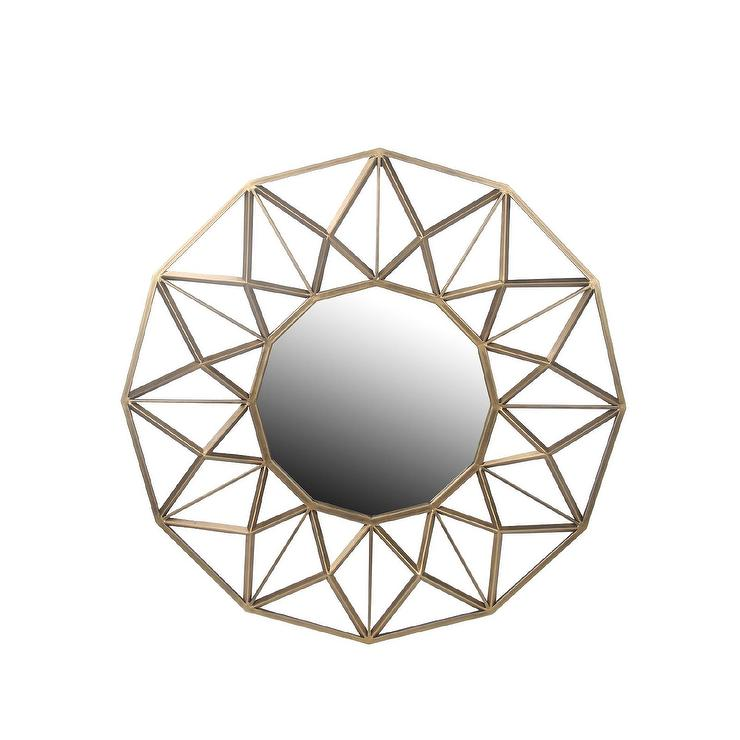 Privilege Geometric Star Beveled Glass Gold Wall Mirror. Merola Tile. Bathroom Tubs. Circular Door. General Contractors Los Angeles. Staging A Home To Sell. Los Gatos Glass. Modern Entryway. Square Ottoman Coffee Table