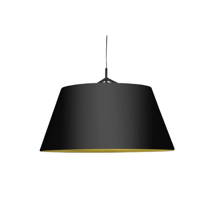 Living Pendant Lamp Large Black