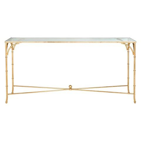 Inga Glass Top Gold Console