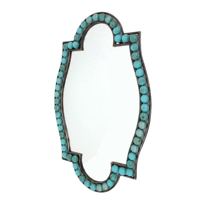 Teton Home Turquoise Wall Mirror