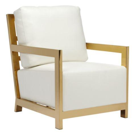 West Street White And Gold Chair