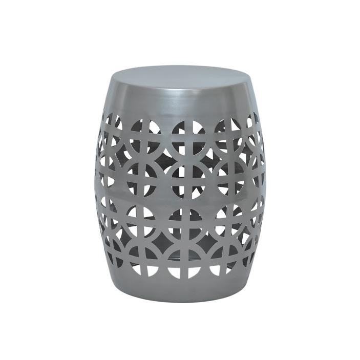 Admirable Artisan Gray Garden Stool Side Table Inzonedesignstudio Interior Chair Design Inzonedesignstudiocom