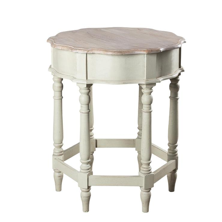 Madelle Large Cream Side Table